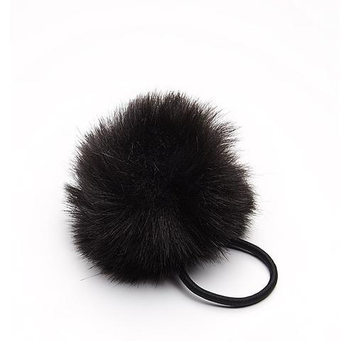 Faux Fur Pom Hair Tie