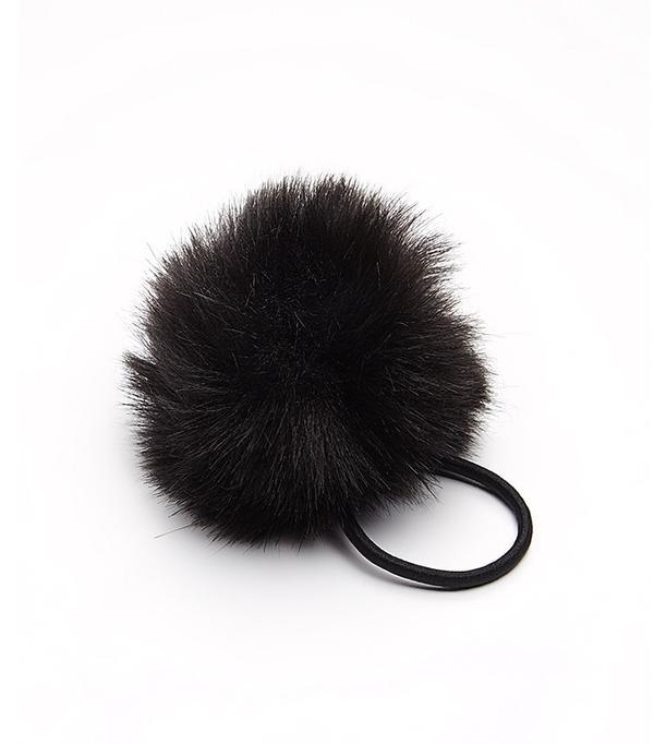 Free People Faux Fur Pom Hair Tie