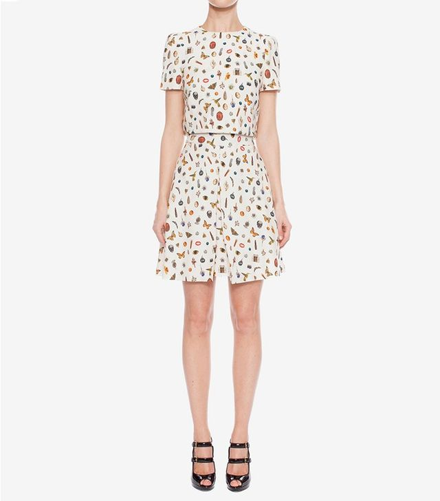 Alexander McQueen Obsession Print Mini Dress
