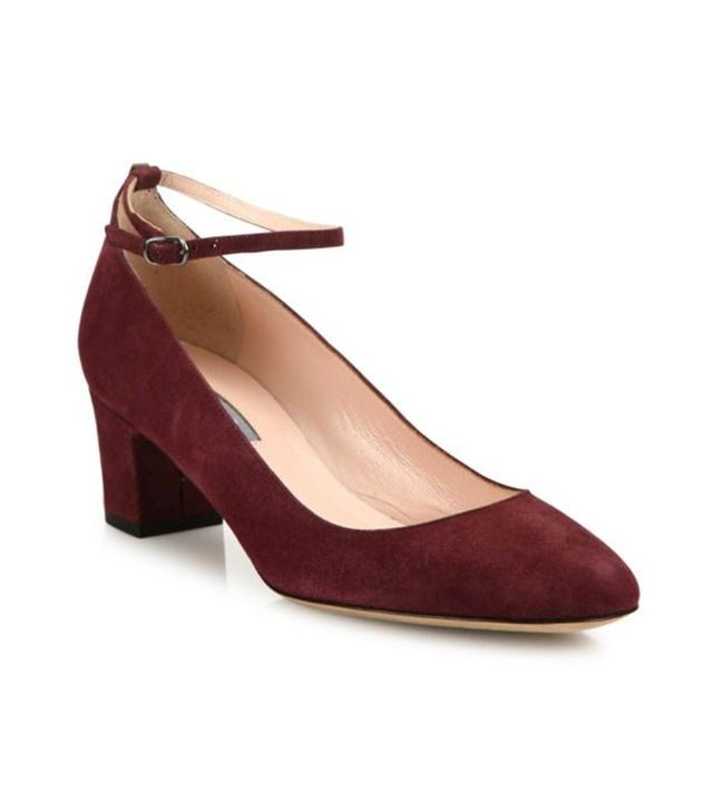 SJP by Sarah Jessica Parker Ingenue Suede Ankle-Strap Block-Heel Pumps