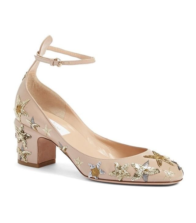 Valentino Tango Star Studded Ankle Strap Pumps