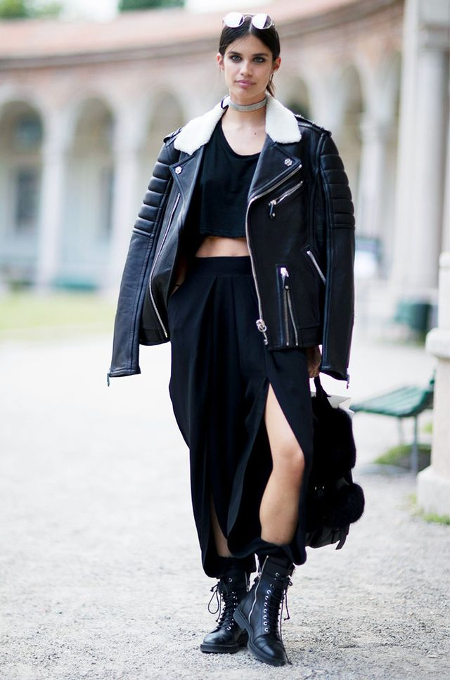 All-Black Leather + Combat Boots