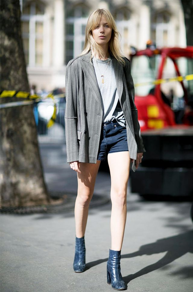 Long Blazer + Ankle Boots
