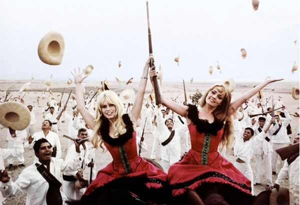 The Movie: Viva Maria! (1965) Brigitte Bardot and Jeanne Moreau redefined the notion of French bombshell when they teamed up in Louis Malle's comedic adventure film wearing over-the-top costumes...