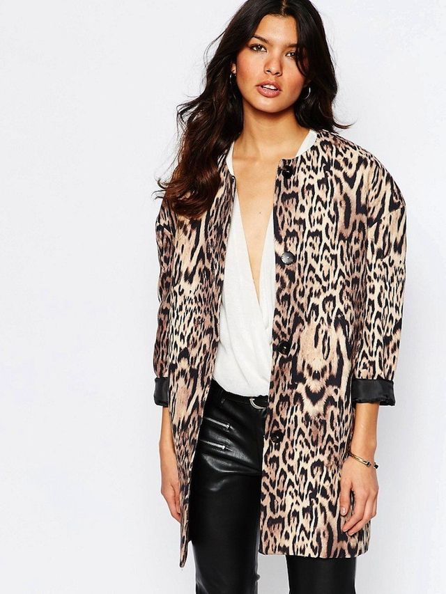Mango Leopard Print Over Coat