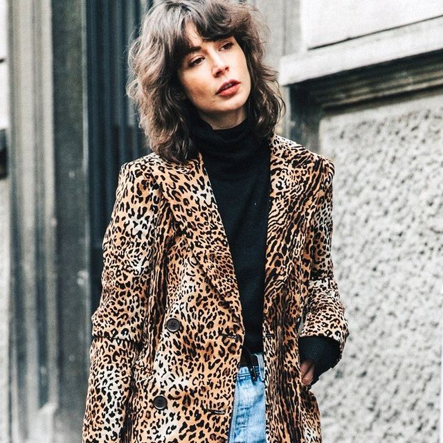 A Fashion-Forward Way to Wear an Animal-Print Coat