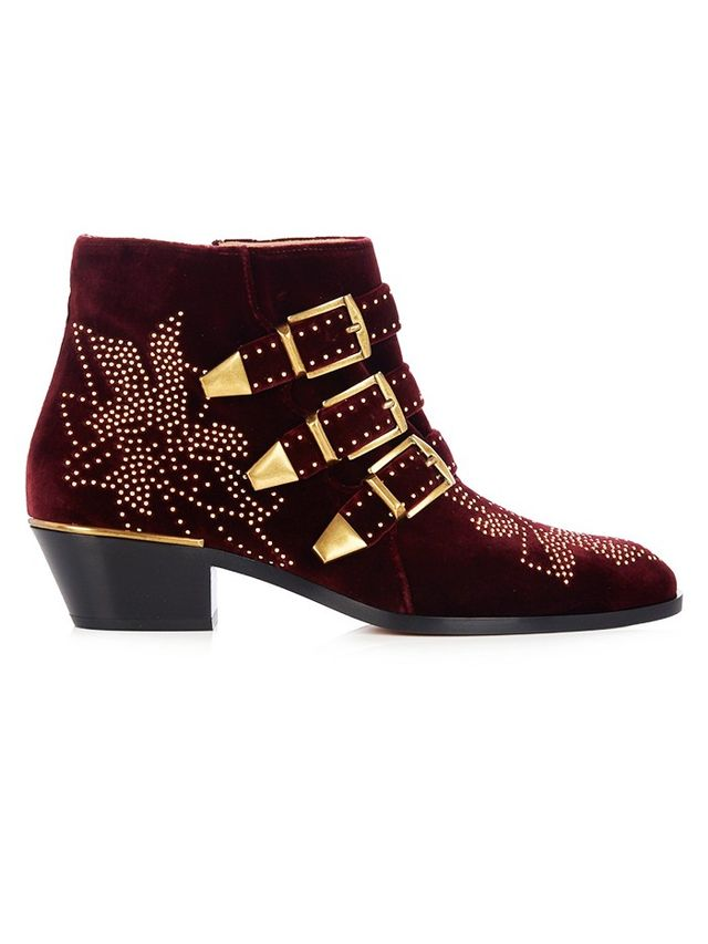 Chloé Susanna Velvet Boots