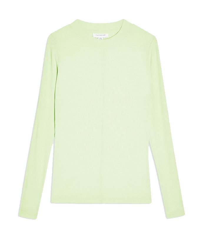 Topshop Green Premium Long Sleeve Top
