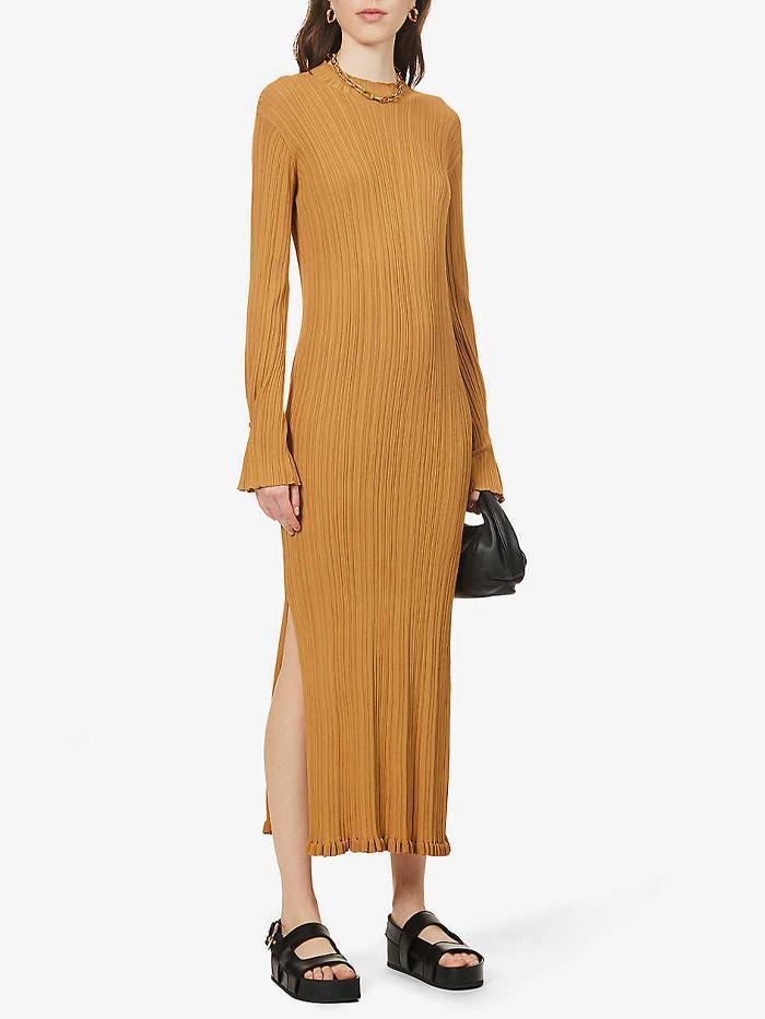 Holzweiler Hadeland high-neck stretch-knit midi dress