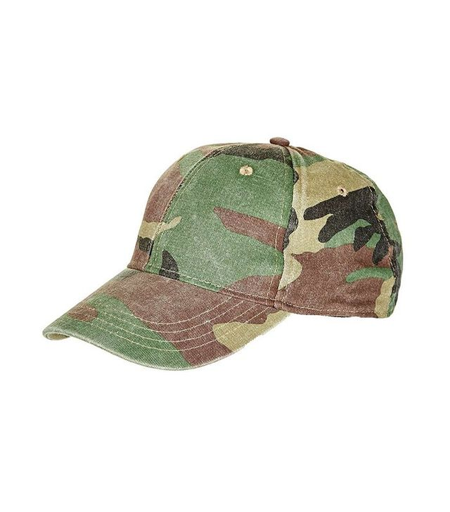 Topshop Structured Camo Cap