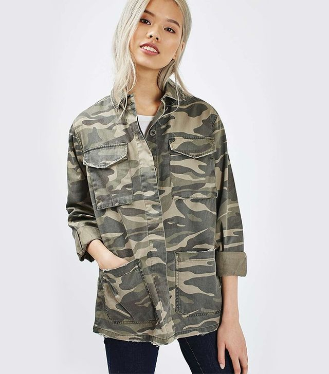 Topshop Camo Shacket