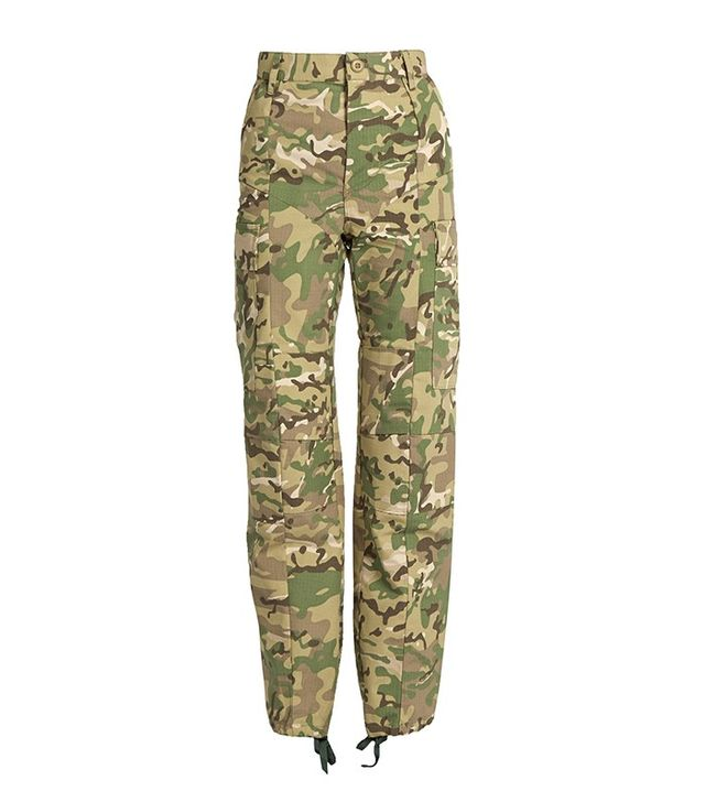 Vetements Camouflage-Print High-Rise Trousers