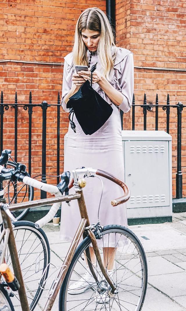 Veronika Heilbrunner dress sneakers street style
