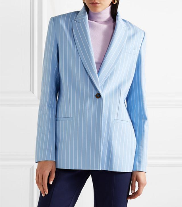 Pinstriped Cotton-twill Blazer