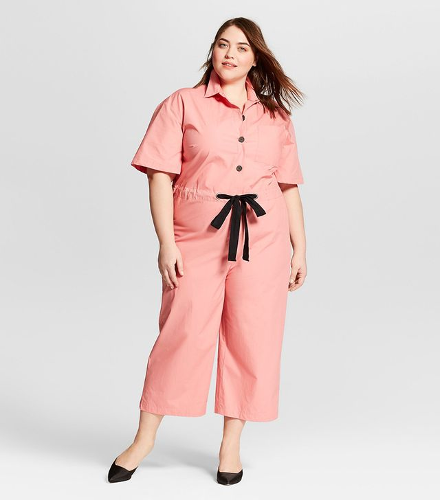 Who What Wear Short Sleeve Belted Jumpsuit