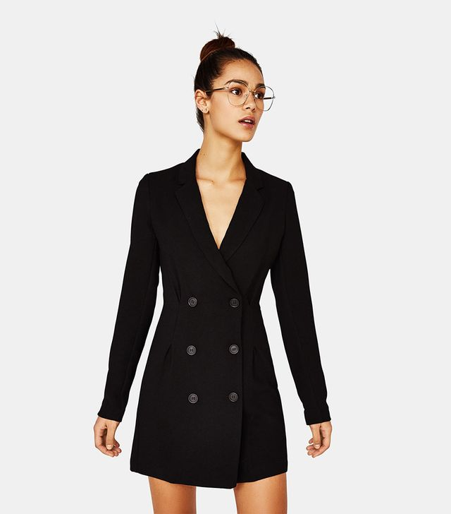 Bershka Blazer-Style Crossover Dress