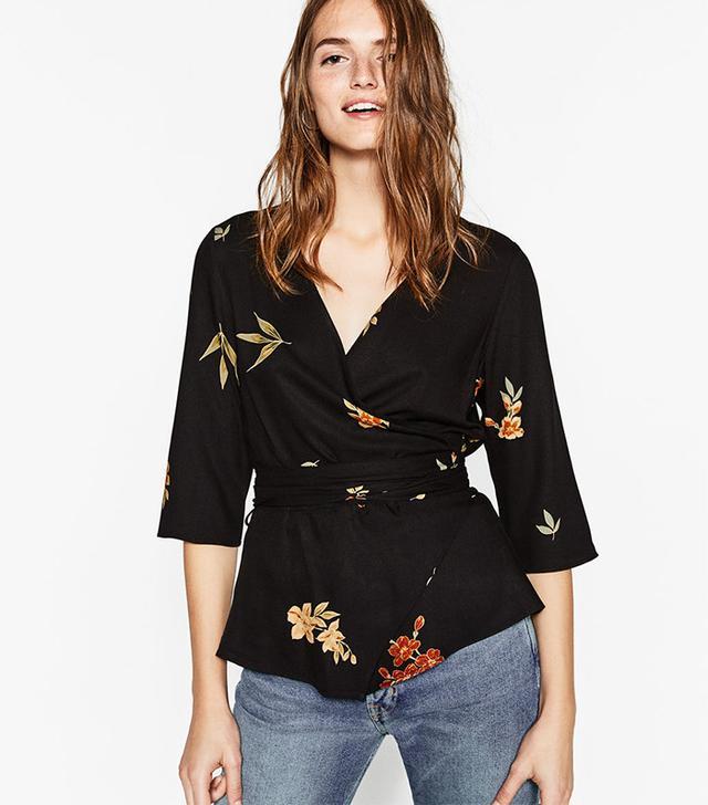 Zara Kimono Style Top