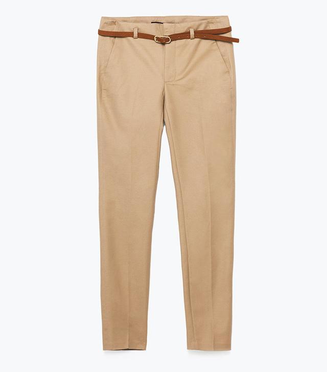 Zara Chino Style Trousers with Belt