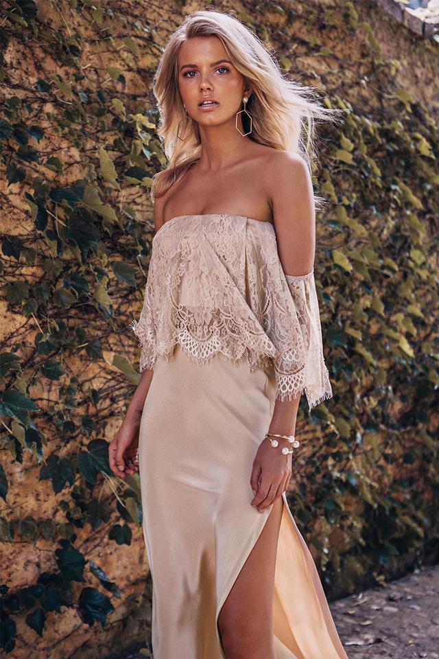 Grace Loves Lace Belle Silk Split Skirt