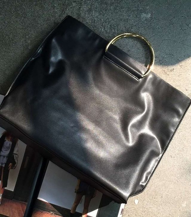 Genuine People Metal Handle Fold Handbag