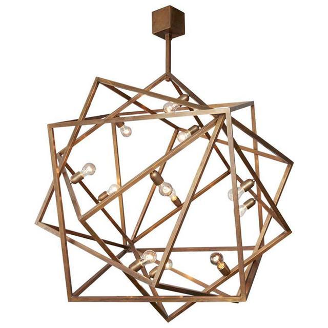 """1stdibs Amazing """"Cube"""" Chandelier, Unique Piece"""