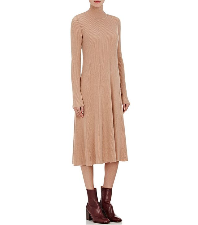 Ryan Roche Cashmere Turtleneck Midi-Sweaterdress