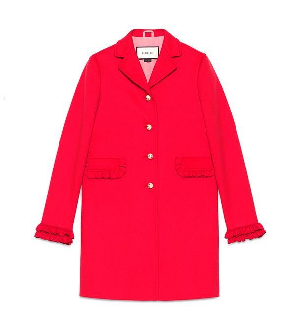 Guccu Single-Breasted Wool Coat