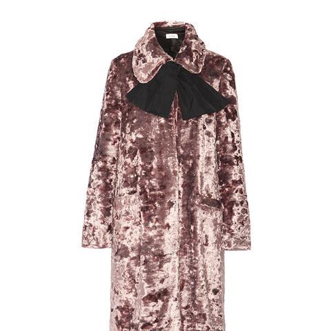 Crushed-Velvet Coat
