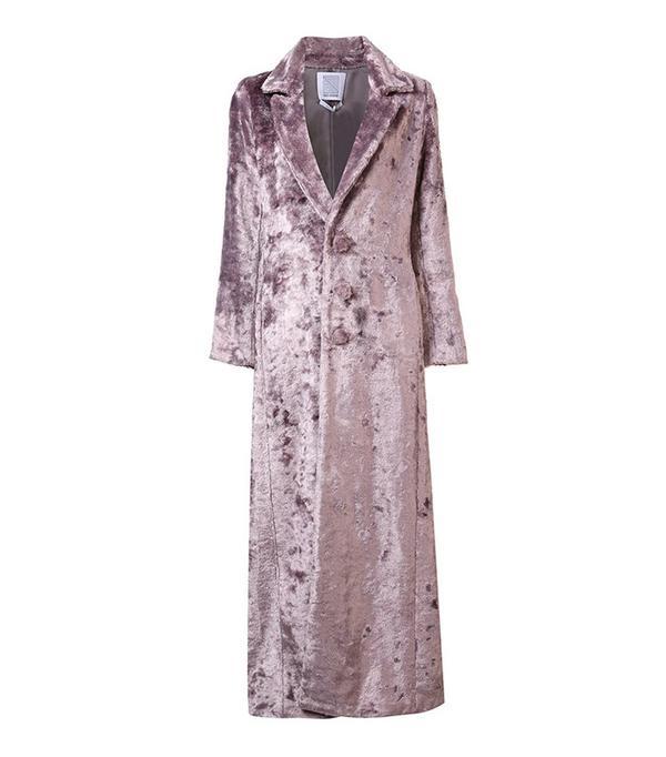 Rosie Assoulin Long Artificial Fur Coat