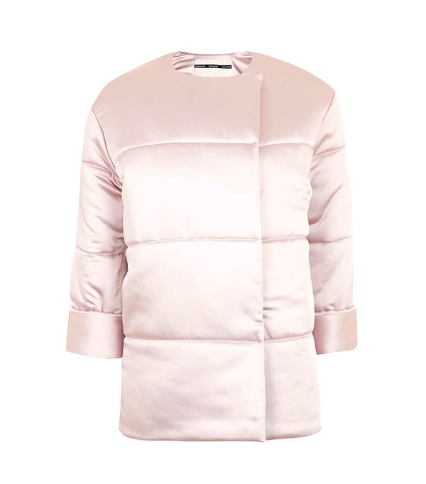 Topshop Satin Puffer Jacket