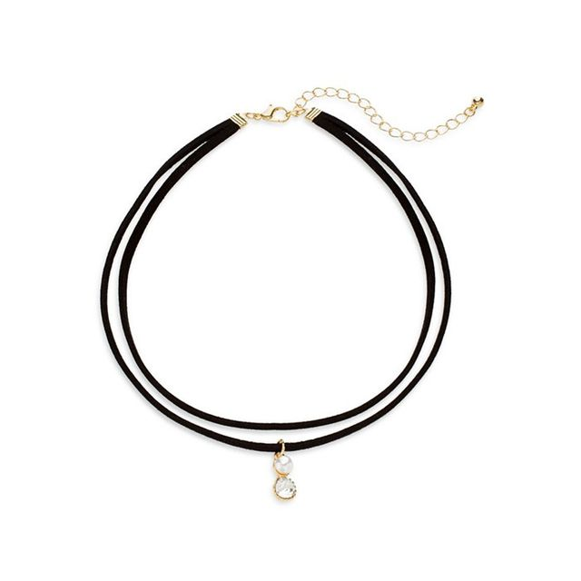 Cara Faux Suede Layered Choker Necklace