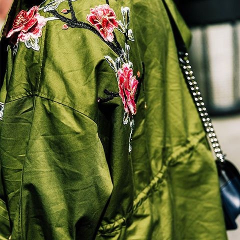 Jackets with detailed embroidery are always a good idea.