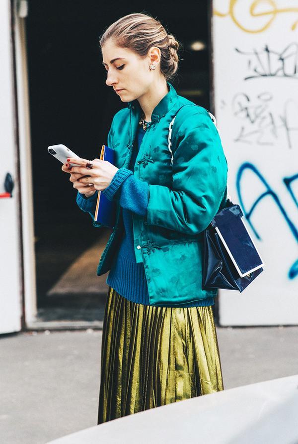 chinese-inspired jacket street style jenny walton
