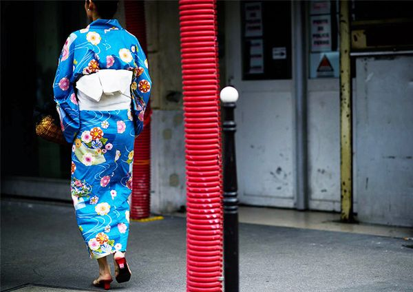 floral kimono dress street style