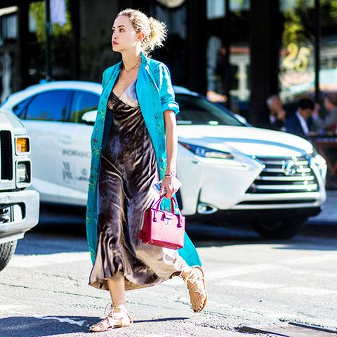 Layer a kimono over a modern slip dress for double the silkiness.