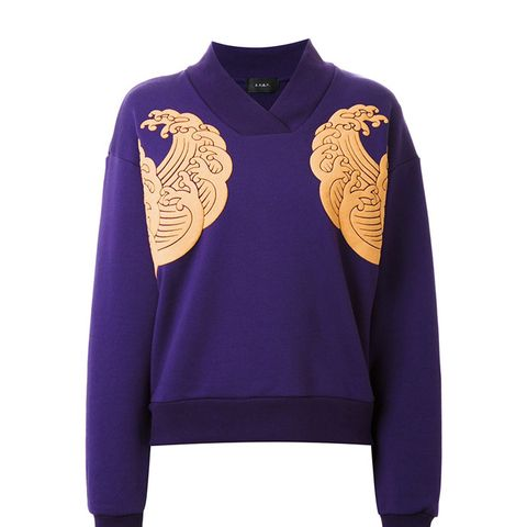 Nami Kimono Collar Sweatshirt