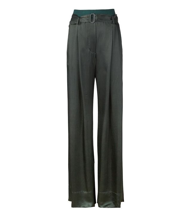 Ann Demeulemeester Belted Wide Leg Trousers