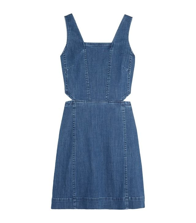 Madewell Cutout Denim Mini Dress