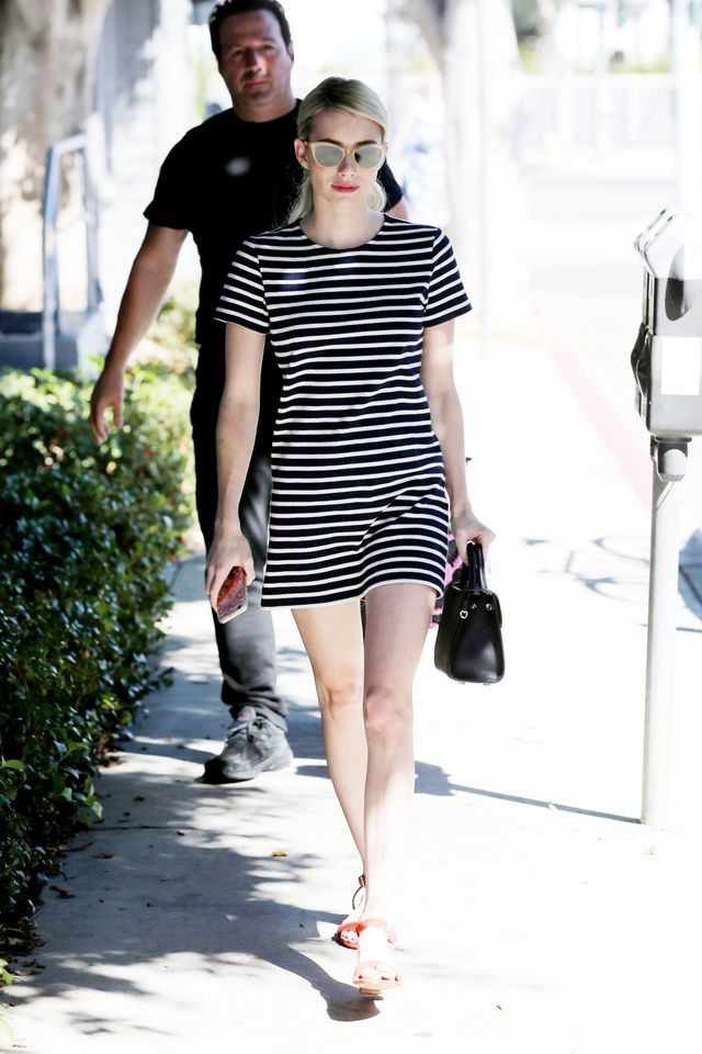 Emma Roberts Everlane Gia Mini Dress