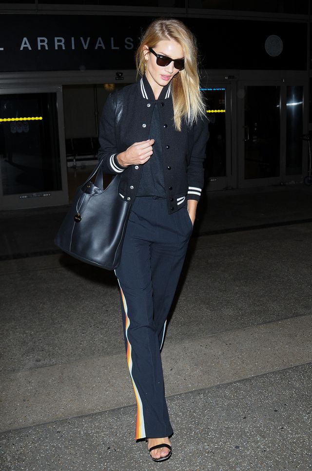 Rosie Huntington-Whiteley Airport style NYFW