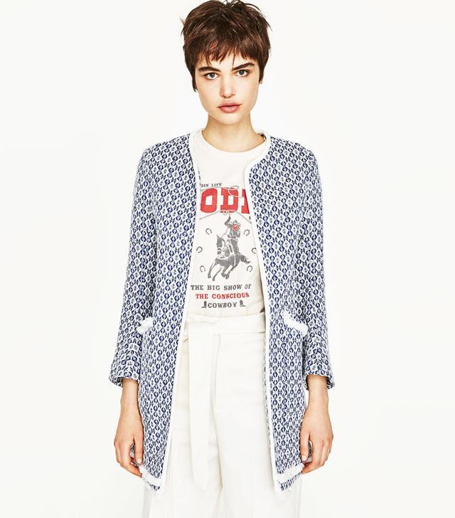 Zara Boucle Coat