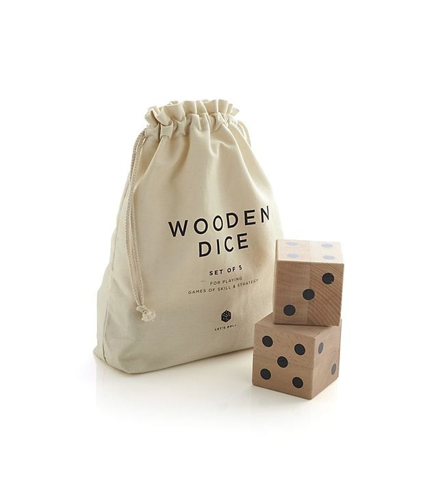 Crate and Barrel Wooden Dice Set