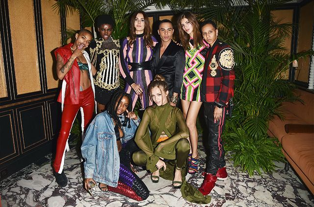 Balmain Fact #9: The #BalmainArmy is full of Olivier's actual friends.