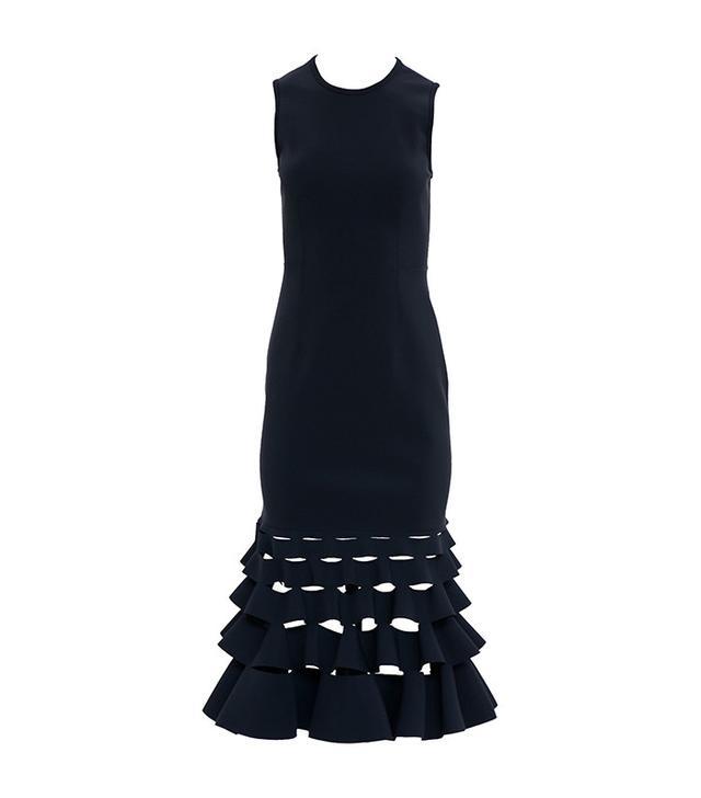 Dion Lee Slash Ruffle Shift Dress