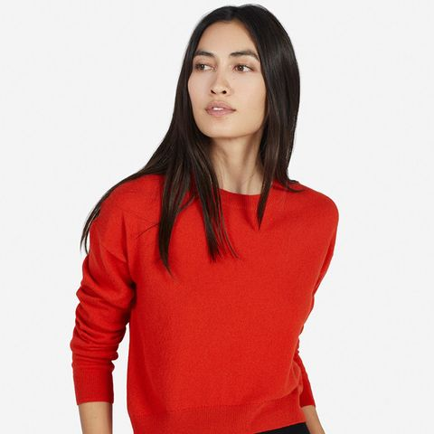 Cashmere Cropped Crew