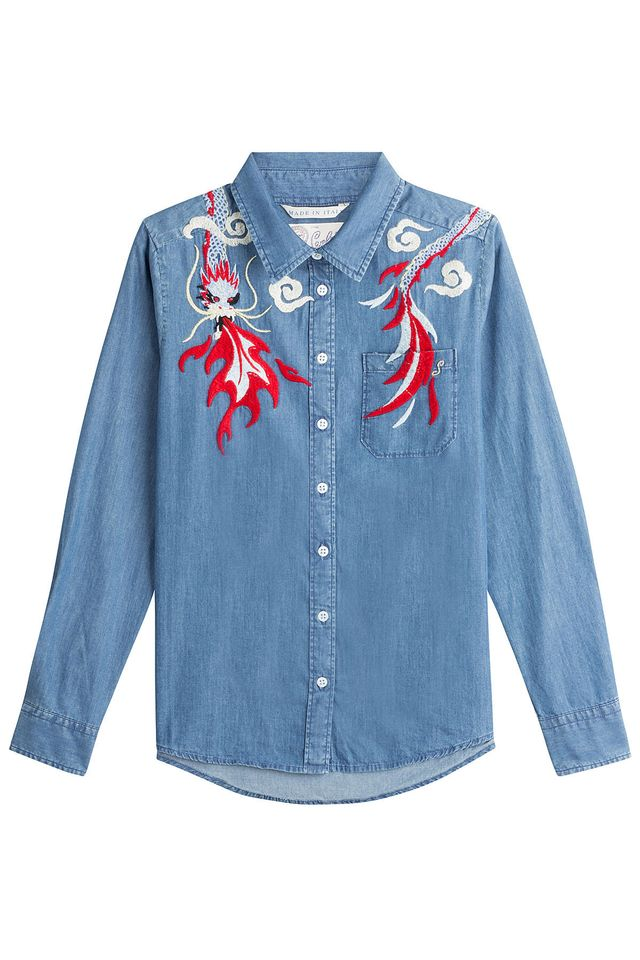 Seafarer Embroidered Denim Shirt