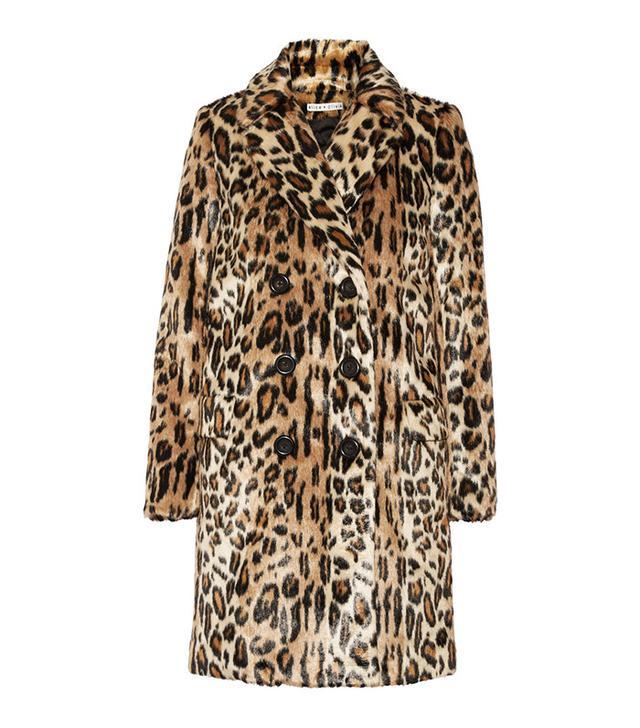 Alice + Olivia Montana Leopard-Print Faux Fur Coat