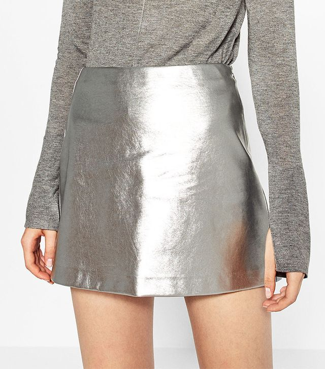 Zara Short Metallic Skirt