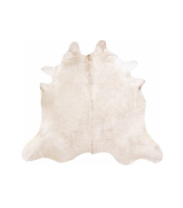 Rodeo Brazilian Champagne Cowhide Rug