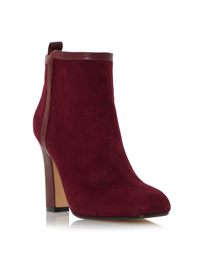 Dune London OKE High Heel Leather Trim Ankle Boot